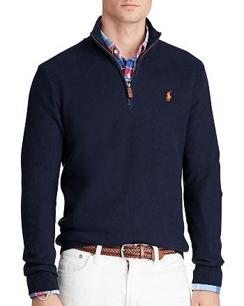 price reduced sale usa online footwear Polo Ralph Lauren Pima Cotton Half-Zip Sweater | Bloomingdale's