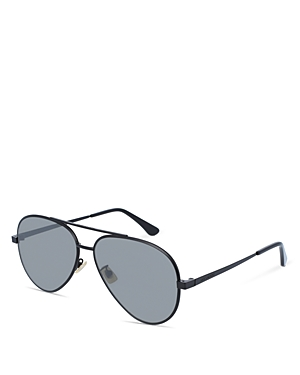 Saint Laurent Men\\\'s Zero Base Brow Bar Aviator Sunglasses, 61mm-Men
