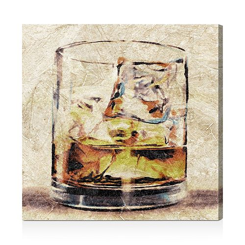 "Oliver Gal - Scotch Glass Wall Art, 20"" x 20"""