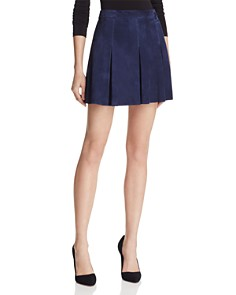 Alice and Olivia - Lee Suede Mini Skirt