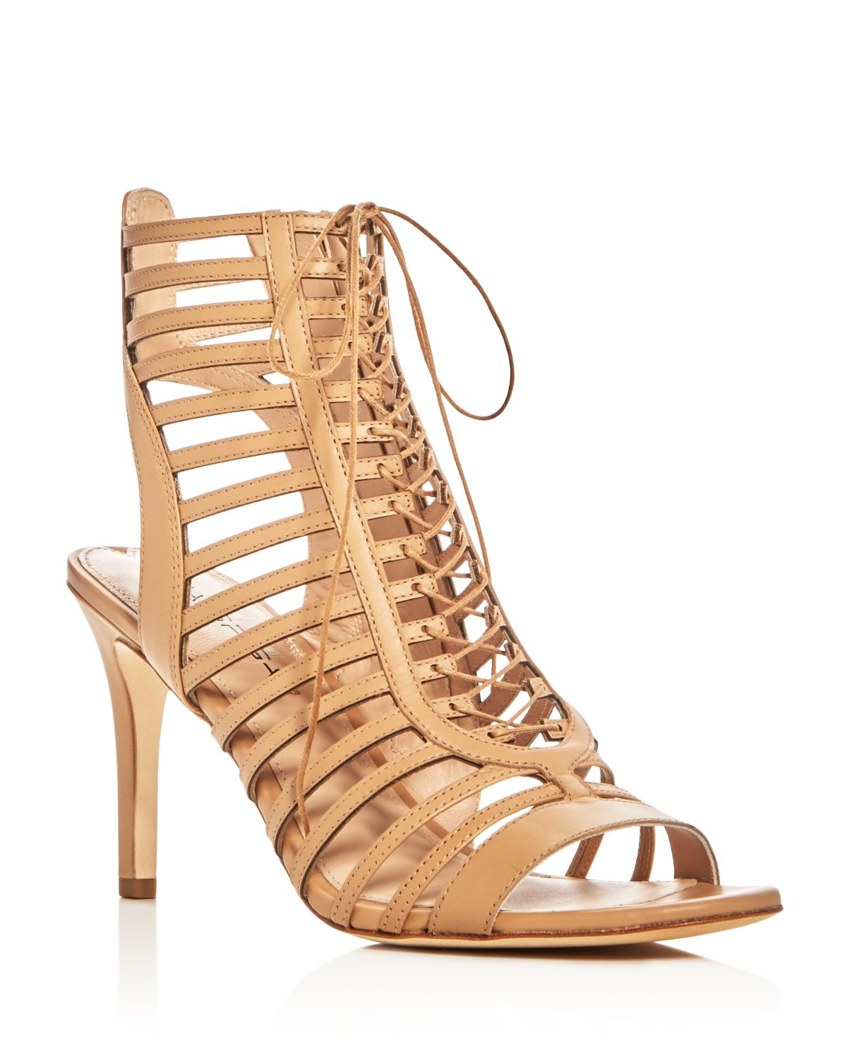 Via Spiga Valena Caged Lace Up Sandals