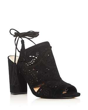 Ivanka Trump Karah Perforated Ankle Tie Sandals