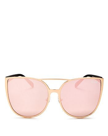 b682297b1c280 Quay - Women s Sorority Princess Mirrored Cat Eye Sunglasses