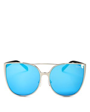 Quay Sorority Princess Mirrored Cat Eye Sunglasses, 60mm