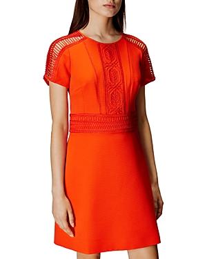 Karen Millen Soutache Trim Textured Shift Dress