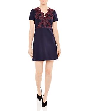 Sandro Margo Lace Overlay Dress