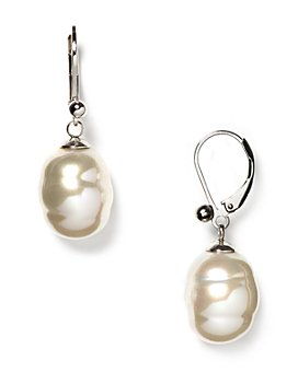 Majorica - Baroque Simulated Pearl Drop Earrings