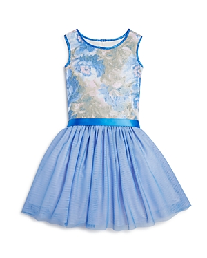 Us Angels Girls' Floral Sequin Dress - Little Kid