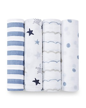 Aden and Anais - Infant Boys' Swaddle, 4 Pack