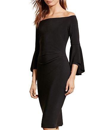 Ralph Lauren - Off-The-Shoulder Bell-Sleeve Dress