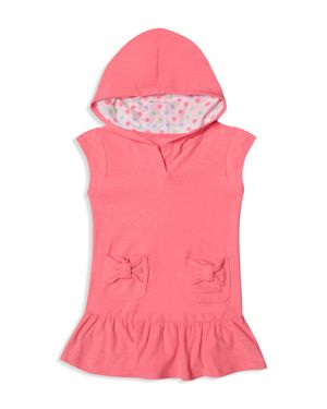 Hula Star Girls' Cotton Terry Cover-Up - Little Kid
