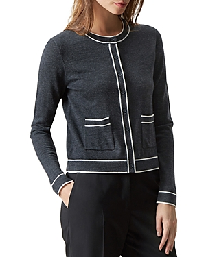 Hobbs London Rosina Merino Wool Cardigan