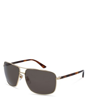 Gucci - Men's Brow Bar Square Sunglasses, 66mm