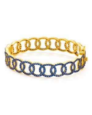 Freida Rothman Baroque Circle Link Bangle Bracelet