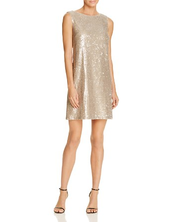 $Betsey Johnson Sequin Shift Dress - Bloomingdale's