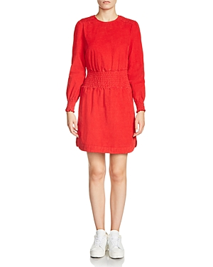 Maje Rabatour Velvet Dress