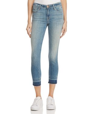 J Brand Mid Rise Crop Skinny Jeans in Corrupted