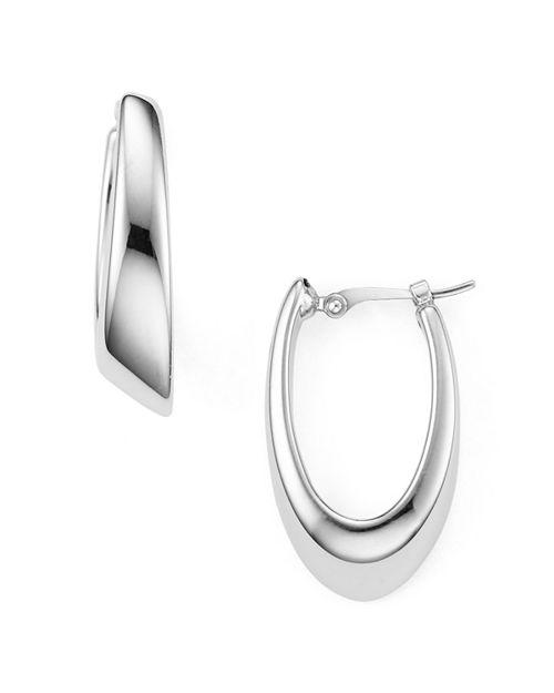 Bloomingdale's - Sterling Silver Oval Hoop Earrings - 100% Exclusive