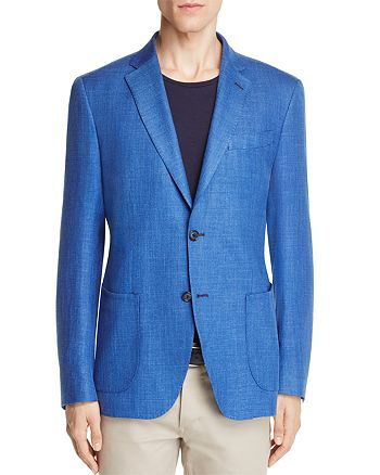 0909 - Textured Solid Slim Fit Sport Coat