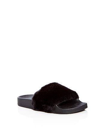 STEVE MADDEN - Girls' Softey Slide Sandals - Little Kid, Big Kid