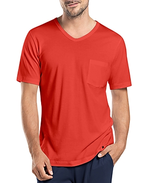 Hanro Night & Day Short Sleeve V-Neck Shirt