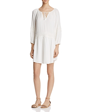 Joie Pauletta Appliqued Lace Trim Dress