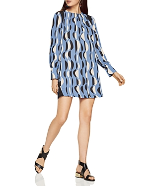 Bcbgmaxazria Karla Deco Graphic Print Shift Dress