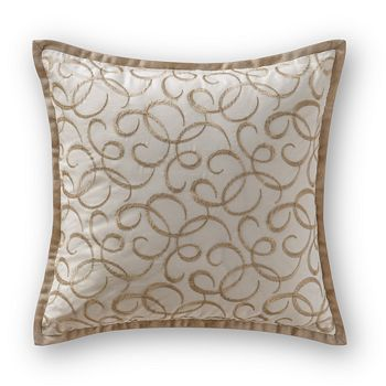 """Waterford - Chantelle Embroidered Decorative Pillow, 16"""" x 16"""""""