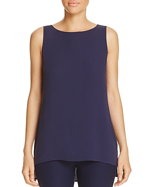 Eileen Fisher Petites High Low Silk Tank