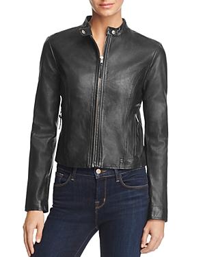 Bb Dakota Leydon Leather Moto Jacket