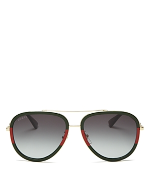 Gucci Women's Brow Bar Aviator Sunglasses, 57mm