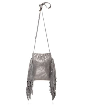 Monserat De Lucca Lola Shimmer Mini Suede Crossbody