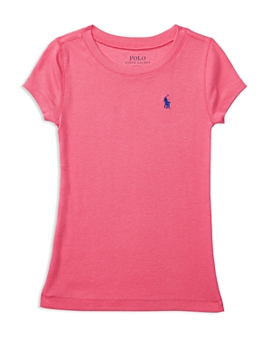 Ralph Lauren Childrenswear Girls' Pima Cotton Blend Tee - Little Kid