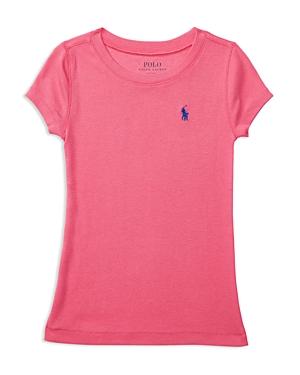 Ralph Lauren Childrenswear Girls' Pima Cotton Blend Tee - Little Kid
