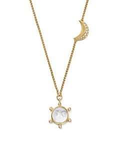 """Temple St. Clair - 18K Yellow Gold Celestial Crystal Charm Necklace with Diamonds, 24"""" - 100% Exclusive"""
