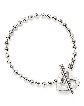 Gucci - Sterling Silver Toggle Heart bracelet