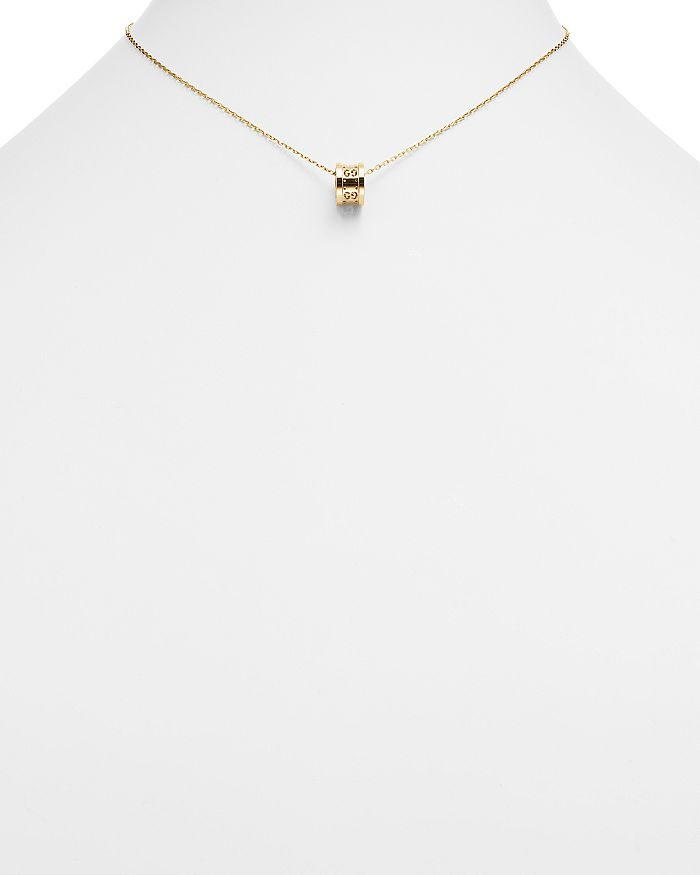 3ad4dccdd Gucci 18K Yellow Gold Icon Twirl Pendant Necklace, 16