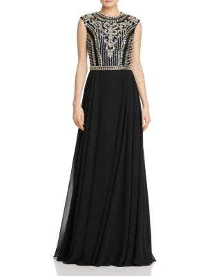 JOVANI FASHIONS BEADED-BODICE GOWN - 100% EXCLUSIVE