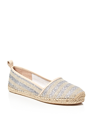 kate spade new york Lilliad Glitter Stripe Espadrille Flats