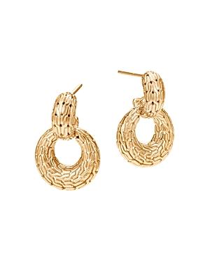 John Hardy 18K Yellow Gold Classic Chain Drop Earrings