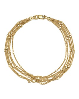 Bloomingdale's - 14K Yellow Gold Multi Strand Chain Bracelet - 100% Exclusive
