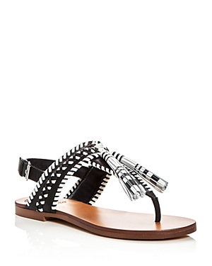 Vince Camuto Rebeka Woven Tassel Thong Sandals