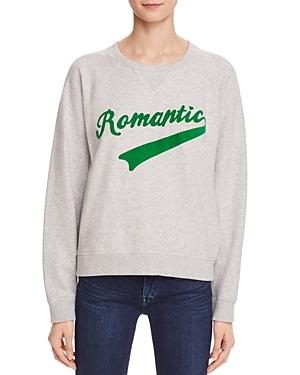 Scotch & Soda Flocked Romantic Graphic Sweatshirt