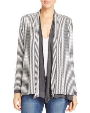 Three Dots Reversible Stripe Cardigan