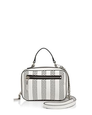 Milly Perforated Stripe Mini Crossbody