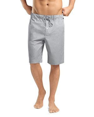 Hanro Night and Day Woven Check Shorts