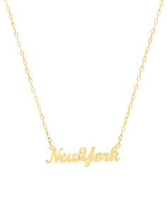 "ICONERY 14K Yellow Gold New York Nameplate Necklace, 16"" - 100% Exclusive - Bloomingdale's_0"