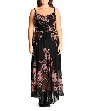City Chic Antique Floral Maxi Dress
