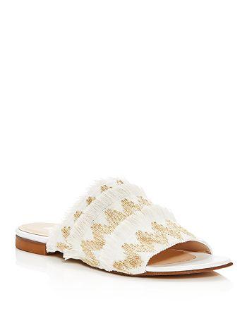 Aska - Women's Eres Embroidered Slide Sandals