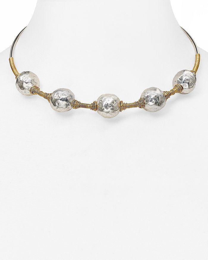Robert Lee Morris Soho - Beaded Wire Wrap Choker Necklace